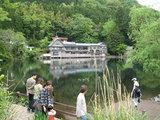金鱗湖と建物